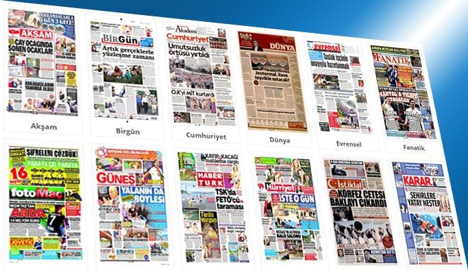 Gazetelerin bugünkü manşetleri 27 Haziran 2017