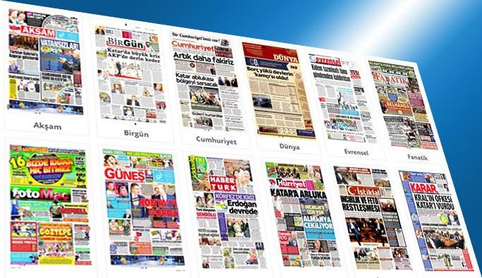 Gazetelerin bugünkü manşetleri 6 Haziran 2017