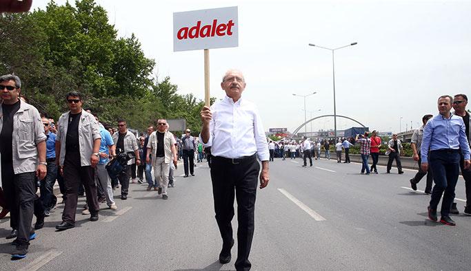 CHP'nin Berberoğlu yürüyüşü 10'uncu gününde