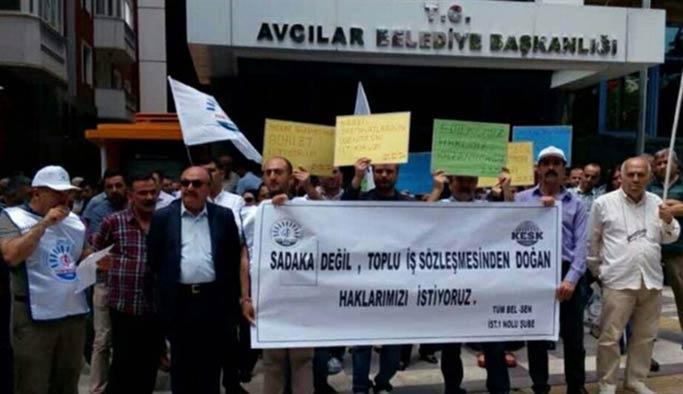 İşçiler CHP'li belediyeden 'Adalet' istiyor