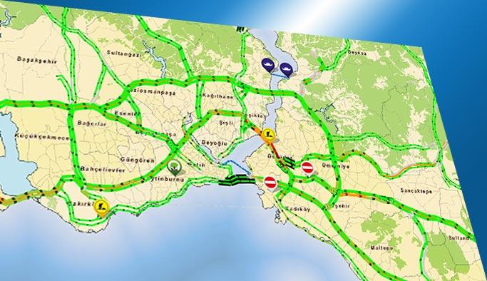 İstanbul trafiğinde yoğunluk bugün yüzde 1'e kadar düştü