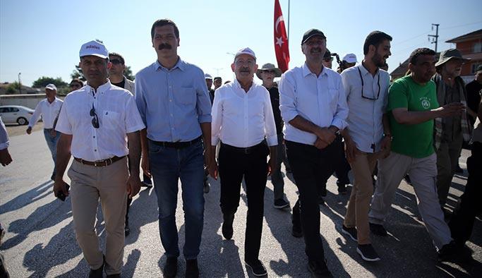 Kılıçdaroğlu'nun yürüdüğü yolda mermi bulundu