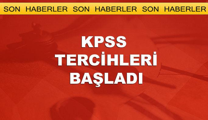 KPSS tercih işlemleri başladı