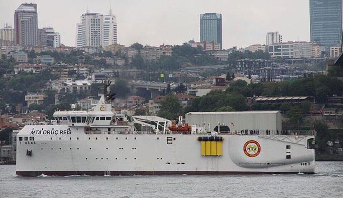 Milli sismik gemisi MTA Oruç Reis denize açıldı