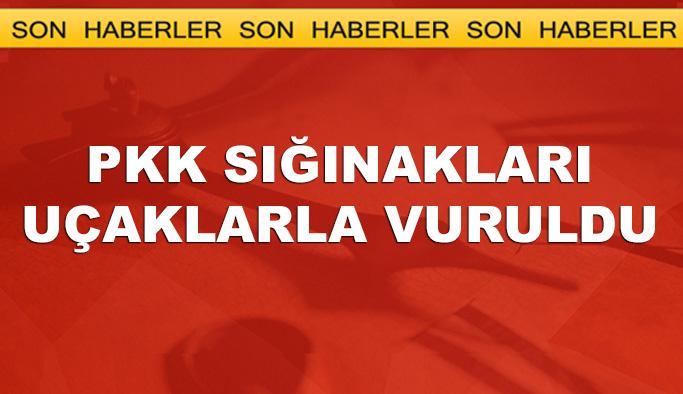 PKK'nın sığınakları yerle bir edildi