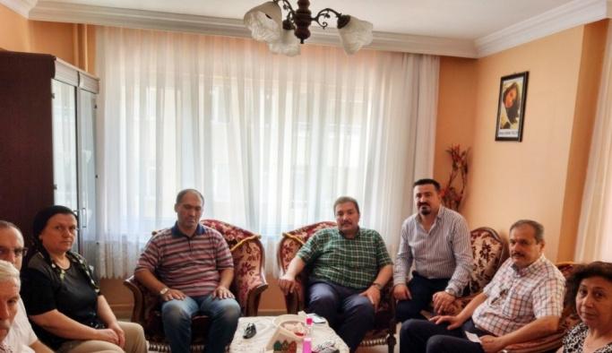 Şehit Öğretmen Aybüke Yalçın'ın baba evine meslektaşlarından ziyaret