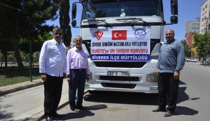 Siverek'ten Suriye'ye un yardımı