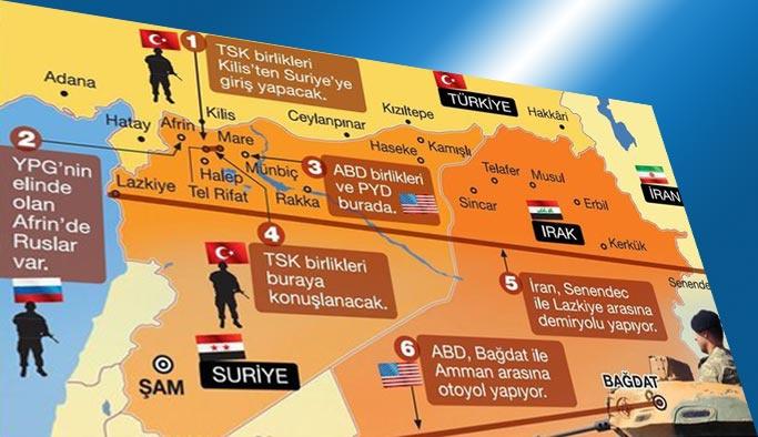Suriye'de hakimiyet alanları yeniden şekilleniyor HARİTALI