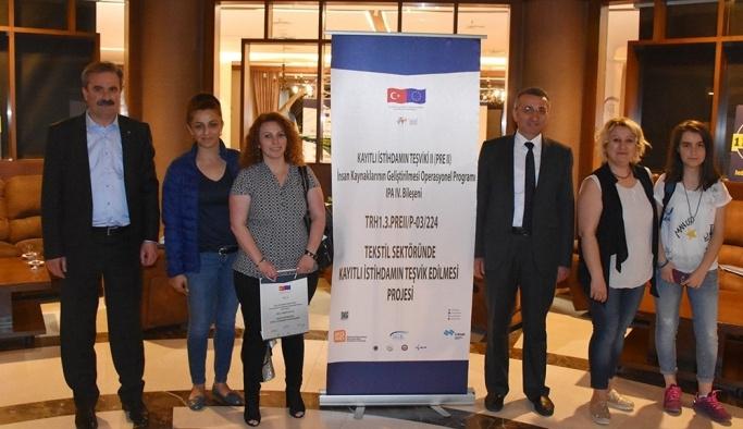 Tekstilde kayıtlı istihdamın teşvik edilmesi toplantısı yapıldı