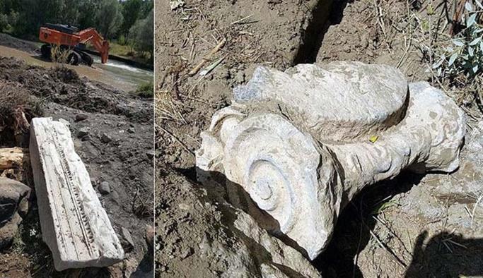 Baraj inşaatında tarihi eserler bulundu
