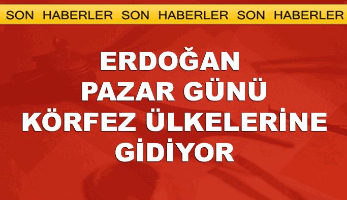 Cumhurbaşkanı Erdoğan hafta sonu Körfez turuna çıkıyor