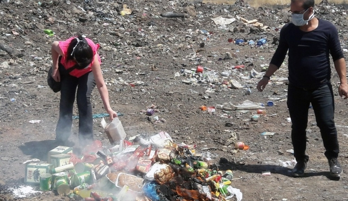 Diyarbakır'da 2 ton gıda imha edildi
