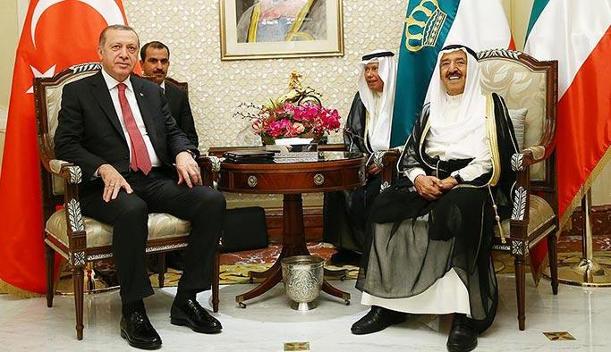 Erdoğan Kuveyt Emiri Sabah ile görüştü