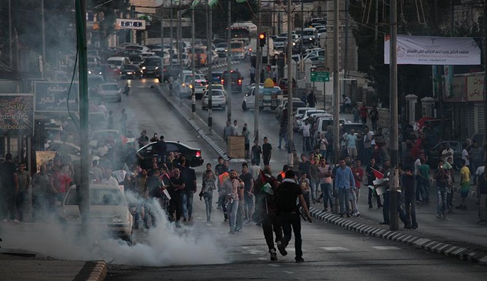 İsrail işgali Filistin'de protesto edildi