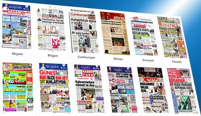 Gazetelerin bugünkü manşetleri 12 Temmuz 2017