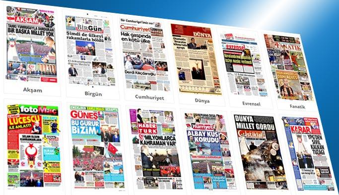 Gazetelerin bugünkü manşetleri 17 Temmuz 2017