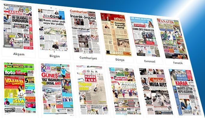 Gazetelerin bugünkü manşetleri 19 Temmuz 2017