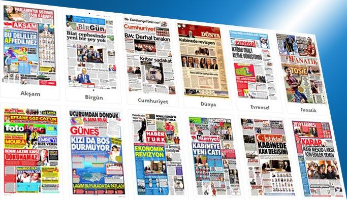 Gazetelerin bugünkü manşetleri 20 Temmuz 2017