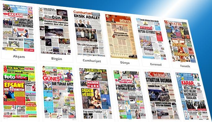 Gazetelerin bugünkü manşetleri 29 Temmuz 2017