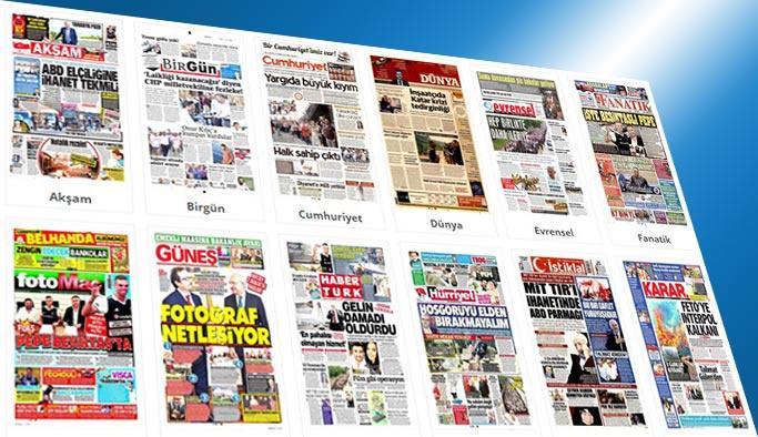 Gazetelerin bugünkü manşetleri 5 Temmuz 2017