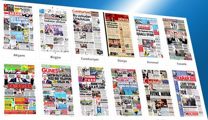 Gazetelerin bugünkü manşetleri 6 Temmuz 2017