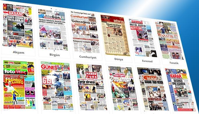 Gazetelerin bugünkü manşetleri 8 Temmuz 2017
