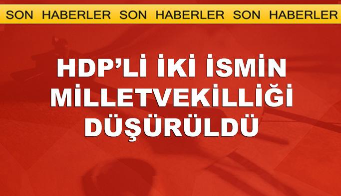Yurt dışına kaçan HDP'li iki milletvekilin vekilliği düşürüldü