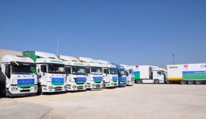 İHH'dan Suriye halkına 2 bin 264 tırlık yardım