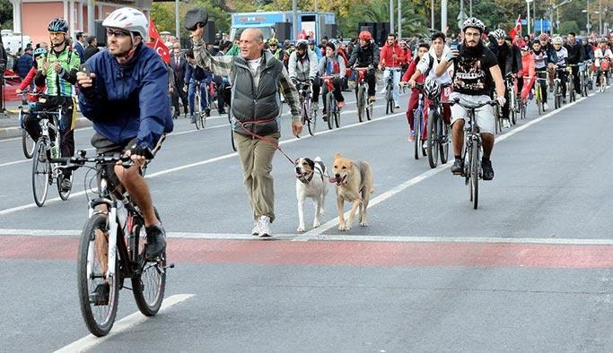 İstanbul'da bir cadde sadece bisikletçilere ayrıldı