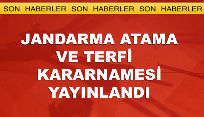 Jandarma Genel Komutanlığı atama listesi açıklandı -TAM LİSTE