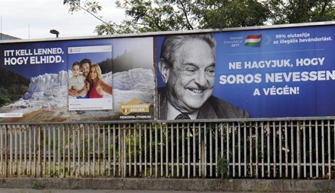 Macaristan'da Soros afişli hükümet kampanyası