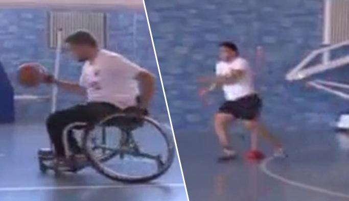 Şaka değil: Tek ayaklı sporcuyu koşan sporcularla yarıştırdılar