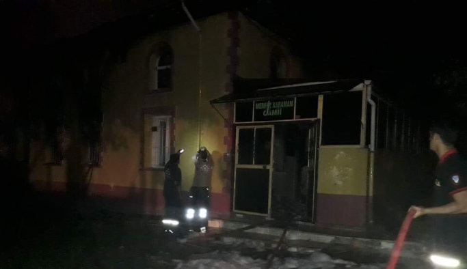 Sakarya'da yanan cami küle döndü