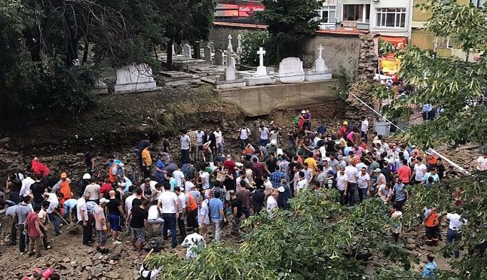 Şişli'de duvar çöktü, 2 kişi yaralandı