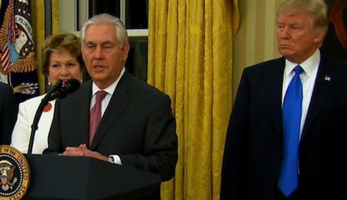 Tillerson da Trump'ı bırakıyor