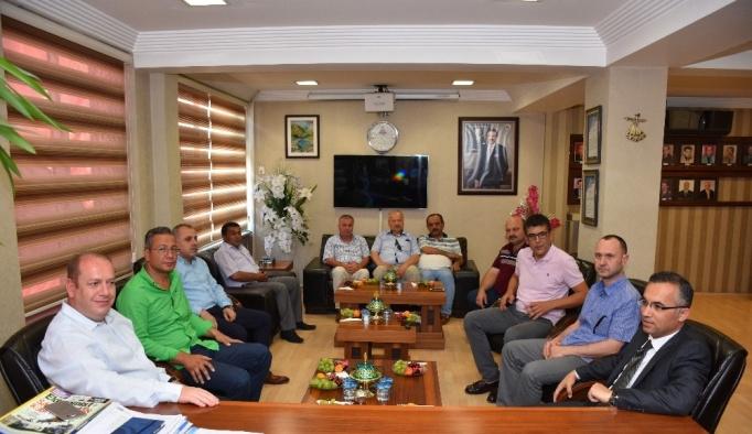 Vali Çeber'den TSO'ya ziyaret