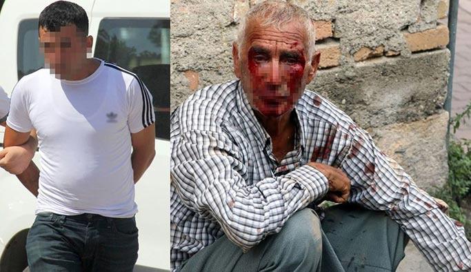 Yaşlı adamı öldüresiye dövüp gasp eden zanlı yakalandı