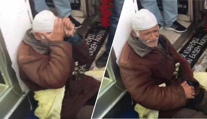 Bayram arefesinde yaşlı adamı hüngür hüngür ağlattılar