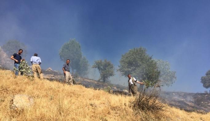 Beytüşşebap'ta çıkan yangını köylüler kendi imkanlarıyla söndürdü