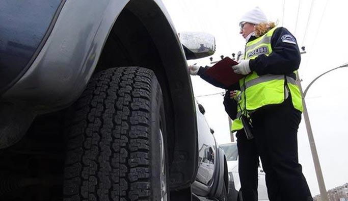 Kış lastiği takmayan sürücülere ceza yağdı