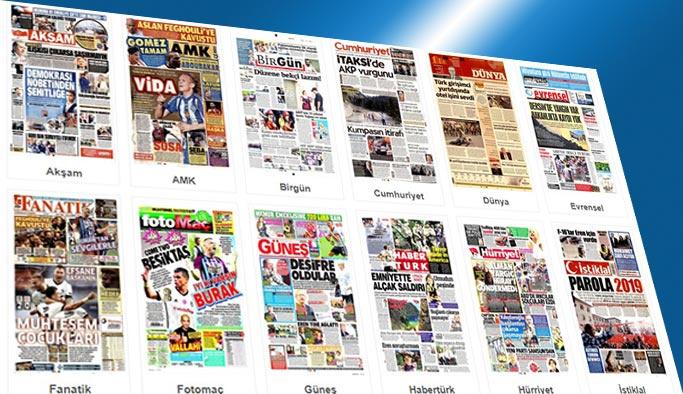 Gazetelerin bugünkü manşetleri 14 Ağustos 2017
