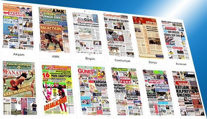 Gazetelerin bugünkü manşetleri 15 Ağustos 2015