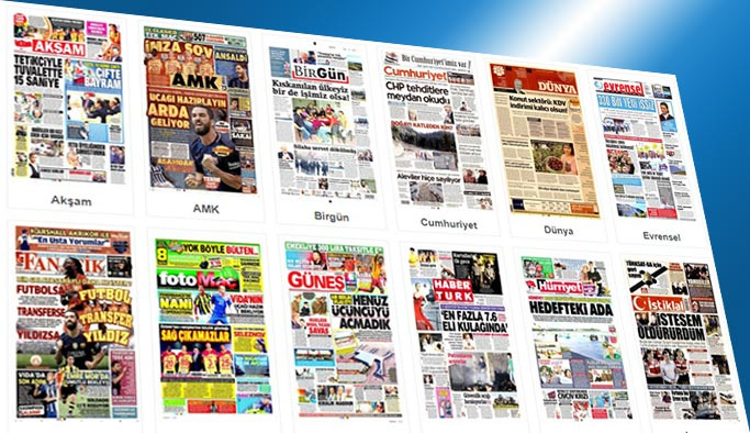 Gazetelerin bugünkü manşetleri 16 Ağustos 2017