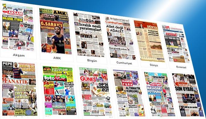 Gazetelerin bugünkü manşetleri 24 Ağustos 2017