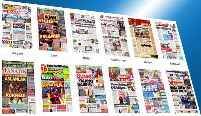 Gazetelerin bugünkü manşetleri 26 Ağustos 2017