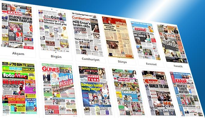 Gazetelerin bugünkü manşetleri 2 Ağustos 2017