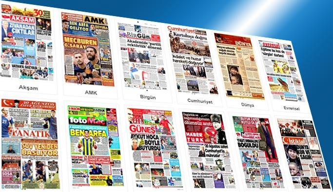 Gazetelerin bugünkü manşetleri 30 Ağustos 2017