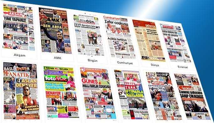 Gazetelerin bugünkü manşetleri 31 Ağustos 2017