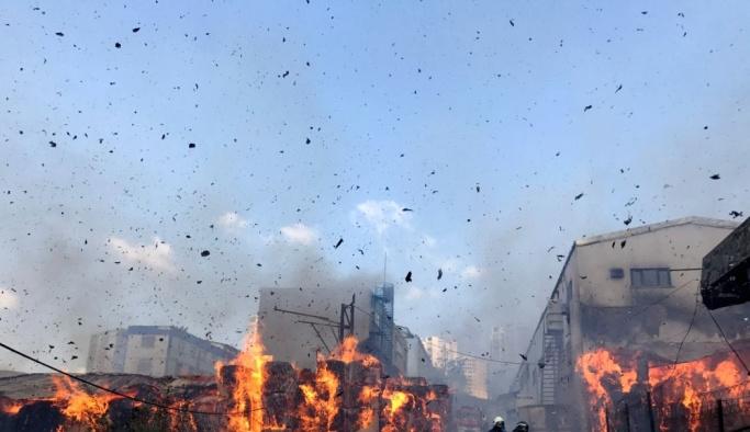 İstanbul Halkalı'da kağıt fabrikası yandı