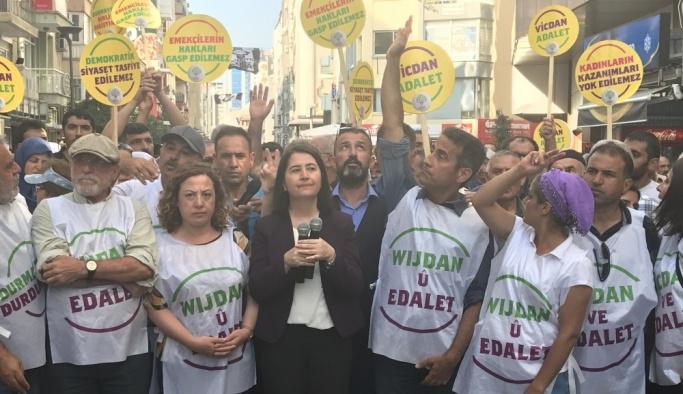 HDP'nin Diyarbakır'da başlattığı eylem İzmir'de sona erdi
